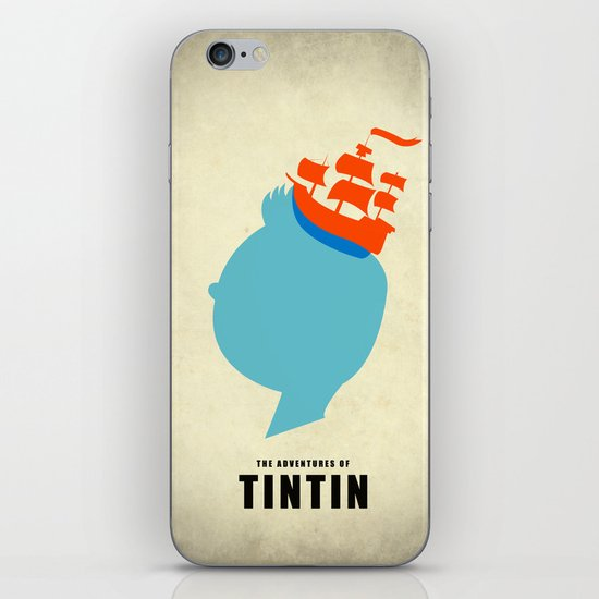 THE ADVENTURES OF TINTIN iPhone & iPod Skin
