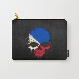 Flag of Philippines on a Chaotic Splatter Skull Carry-All Pouch