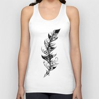 feather Tank Tops featuring Feather by LouJah