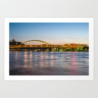 pittsburgh Art Prints featuring Pittsburgh by Nathaniel Fruchter