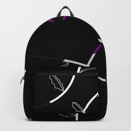 Jagged leaves, demisexual pride flag Backpack
