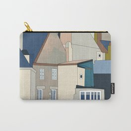france houses abstract art Carry-All Pouch