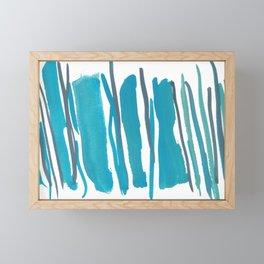 2     190408 Blue Abstract Watercolour Framed Mini Art Print