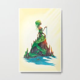 A lost Temple of Muses Metal Print