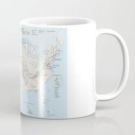 National Parks Trail Map Coffee Mug