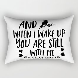 You are never alone Rectangular Pillow
