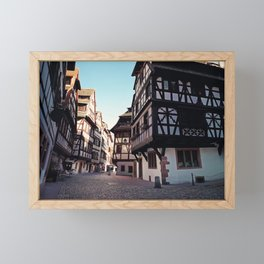 Strasbourg narrow streets Framed Mini Art Print