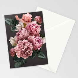Pink peonies rose​ vintage bouquet Stationery Cards