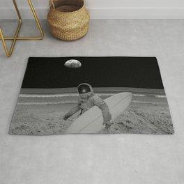 Moon surfer Rug