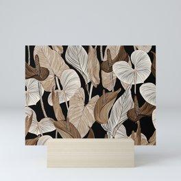 Lush lily - russet Mini Art Print