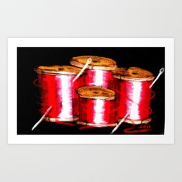 red spools Art Print