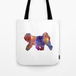 Tibetan Terrier in watercolor Tote Bag