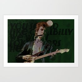 Dylan Goes Electric Art Print
