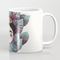 frida Mugs featuring frida by yohan sacre