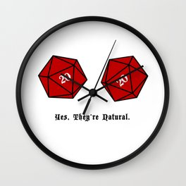 Yes, They're Natural. D20 Wall Clock