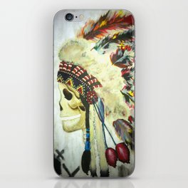 INDIAN WITH HEAD DRESS iPhone Skin