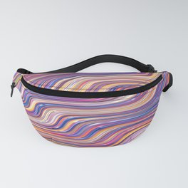 PINCURL waves of pink purple tan abstract design Fanny Pack