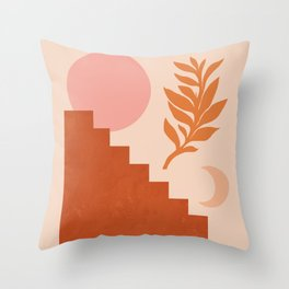 Abstraction_SUN_NATURE_Architecture_Minimalism_001 Throw Pillow