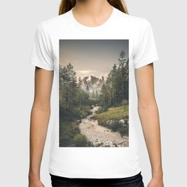 Morning Scenery in the famous Dolomite Mountains T-shirt