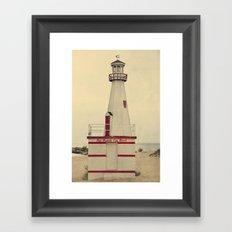 New Buffalo Lighthouse Framed Art Print