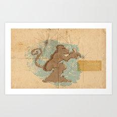 Monkey Island Art Print