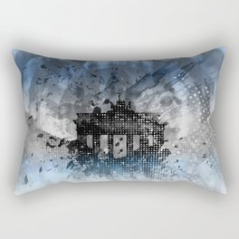 Graphic Art BERLIN Brandenburg Gate Rectangular Pillow