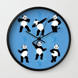 Panda Disco Wall Clock