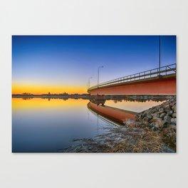 Reflections At Sundown Canvas Print