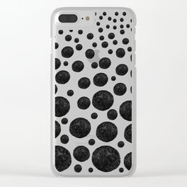 BNW Agatized Coral Dots Clear iPhone Case