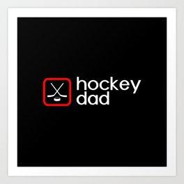 Hockey Dad (Red) Art Print