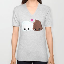 The Best of Friends - Toilet Paper and Poop Unisex V-Neck