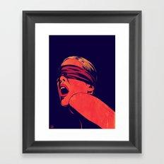 Blindfolded Framed Art Print