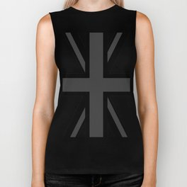 Union Jack - Black and White Biker Tank