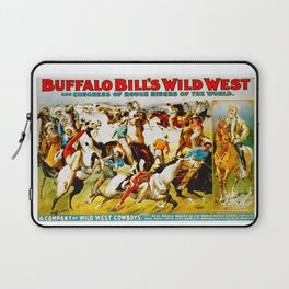 Vintage Wild West Show Poster Laptop Sleeve