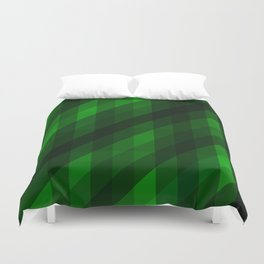 Weaving Green Diamonds Pattern Duvet Cover