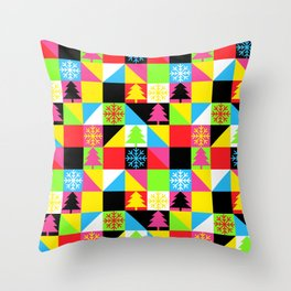 Check Out Christmas Throw Pillow