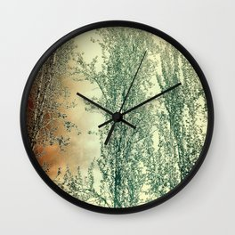 Autumn Poplars, Sunlight Dreaming About You Wall Clock