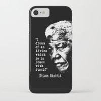 mandela iPhone & iPod Cases featuring Mandela by PsychoBudgie