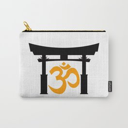 Tori Gate Silhouette and Om Carry-All Pouch