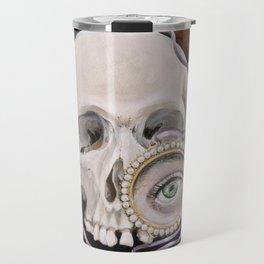 Stillife with skull, lavender and lovers eye Travel Mug