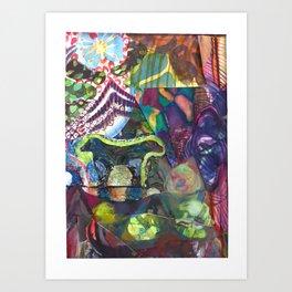 Two-headed Babe Art Print
