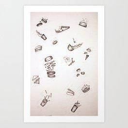 Falling Food Art Print