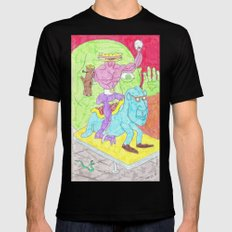 Sandwich man and his snowglobe Black MEDIUM Mens Fitted Tee