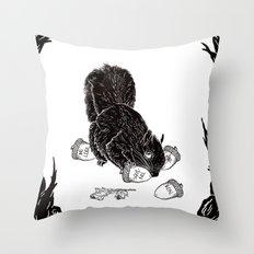 Little Acorns - The White Stripes Throw Pillow
