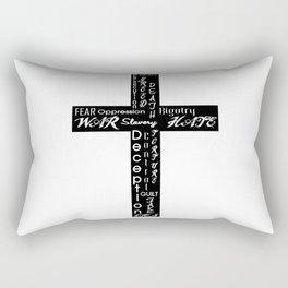 An Honest Cross Rectangular Pillow