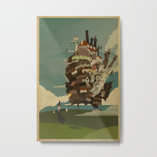 Moving Castle Metal Print