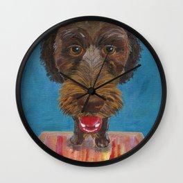 Godiva, the Labradoodle Wall Clock