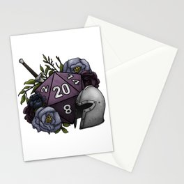 Fighter Class D20 - Tabletop Gaming Dice Stationery Cards