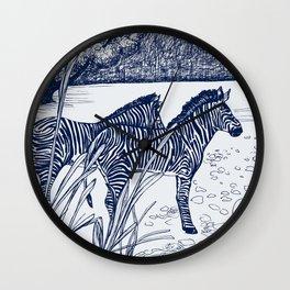 ZEBRA: NAVY Wall Clock