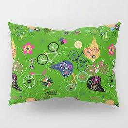 Cycledelic Green Pillow Sham